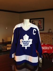 Wendel Clarke signed Leaf's Jersey courtesy of Canada Life