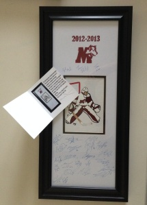 2012/13 Limited Edition 1 of 4 team autographed panels by renowned local artist Hal Jones